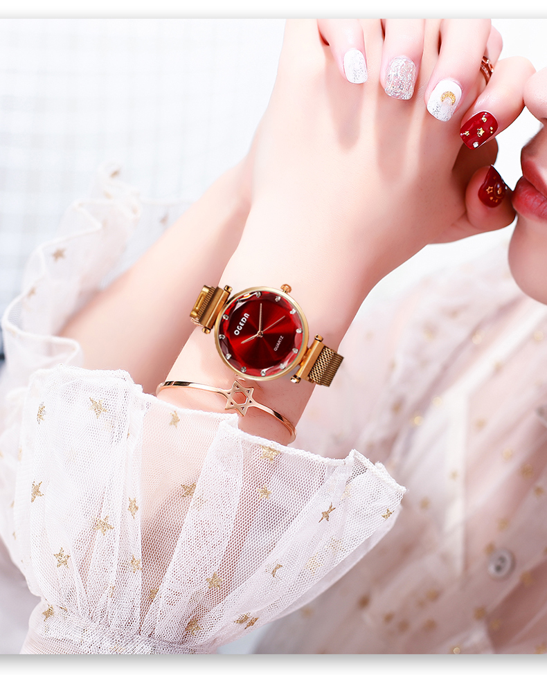 2019 ผู้หญิงนาฬิกาแฟชั่น Casual นาฬิกาเจนีวาสุภาพสตรีนาฬิกาแบรนด์หรูเพชรควอตซ์นาฬิกาข้อมือสำหรับสตรี-ใน นาฬิกาข้อมือสตรี จาก นาฬิกาข้อมือ บน   3