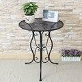De Metal redonda pequena de chá de lazer mesa de canto mesa de café varanda simples estilo criativo