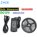New Chip 5630 SMD LED strip flexible light 12V Non Waterproof 60LEDs/M Ultra Bright lamps + 12V 5A 60W power supply