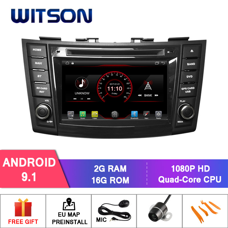 WITSON Android 9 1 car dvd GPS player For SUZUKI SWIFT 2011 2015 Mirror Link for