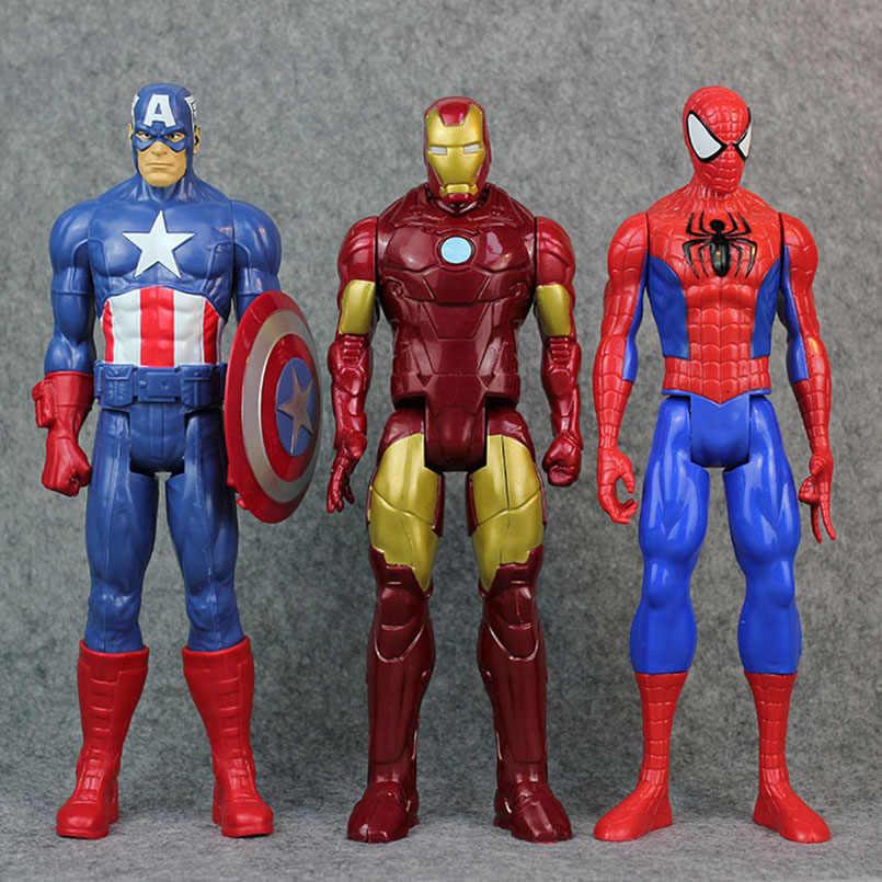 Apaffa 30 см Железный человек Капитан Америка супер фигурка супергероя Тор муравей-человек Росомаха человек паук фигурка модель игрушки рождественские подарки Дети
