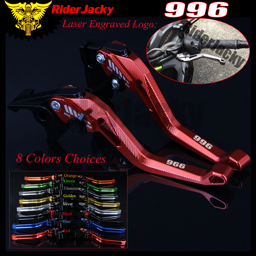 RiderJacky 3D Rhombus Hollow Adjustable Motorcycle Brake Clutch Levers For Ducati 996/B/S/R 1999-2003 2000 2001 2002