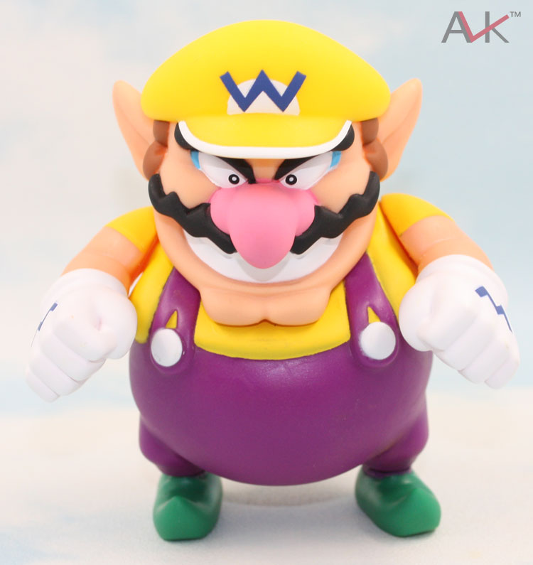 Super Mario Bros Wario Action Figure Toy 12cm Anime game Collection PVC model Dolls toys Brinquedos 2017 new death note l ryuuku ryuk pvc action figure anime collection model toy dolls 24cm