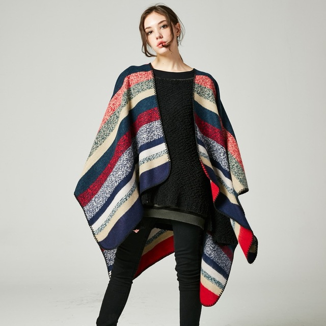 Fashion Stripe Scarf Luxury Brand Desigual Plaid Cashmere Cachecol Feminine  And Big Long Shawl Fashionable Winter 2eab118cce8