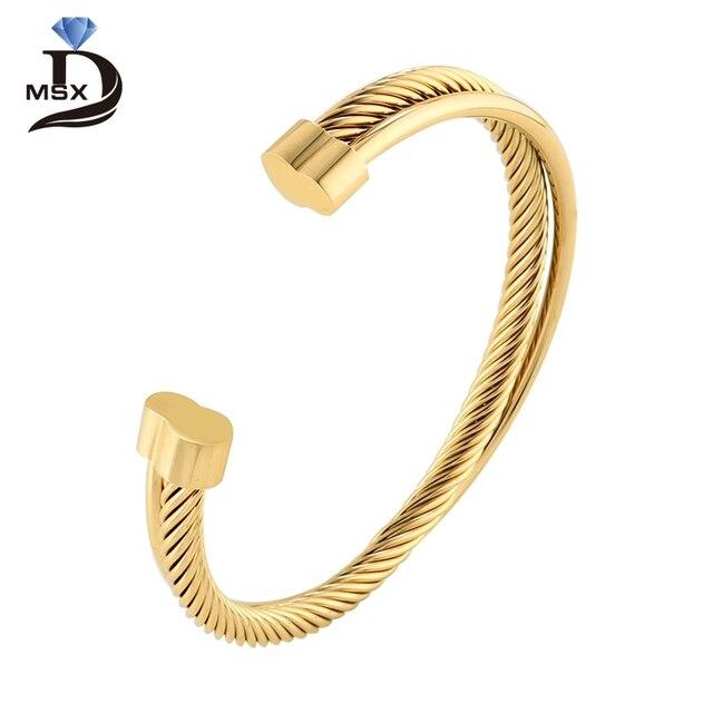 Роза браслет золотого цвета браслет для женщины человек проволока из нержавеющей стали Wistband простой европейский мода женский подарок ювелирных изделий