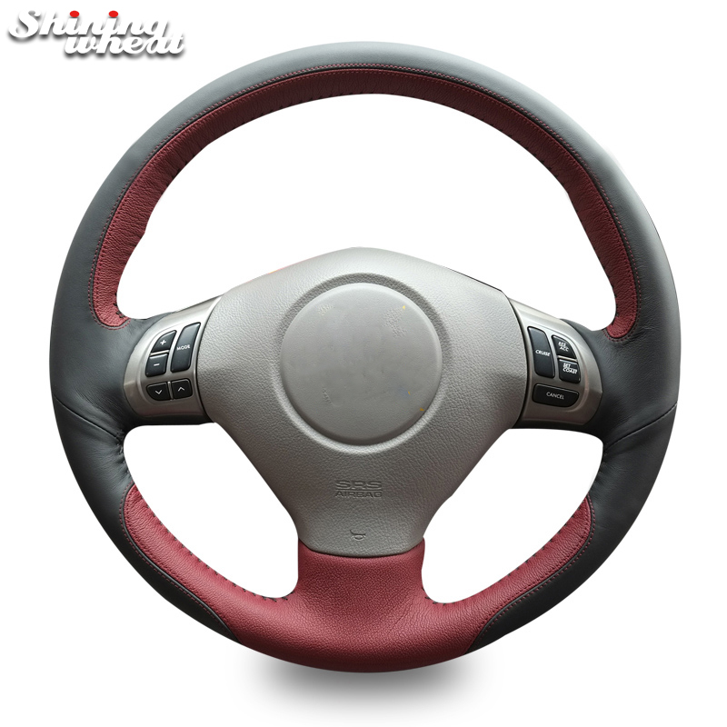 Shining wheat Genuine Leather Steering Wheel Cover for Subaru Forester 2008-2012 Impreza 2008-2011 Legacy 2008-2010 Exiga 2 автомобильный коврик seintex 00752 для subaru forester iii 2008 2012