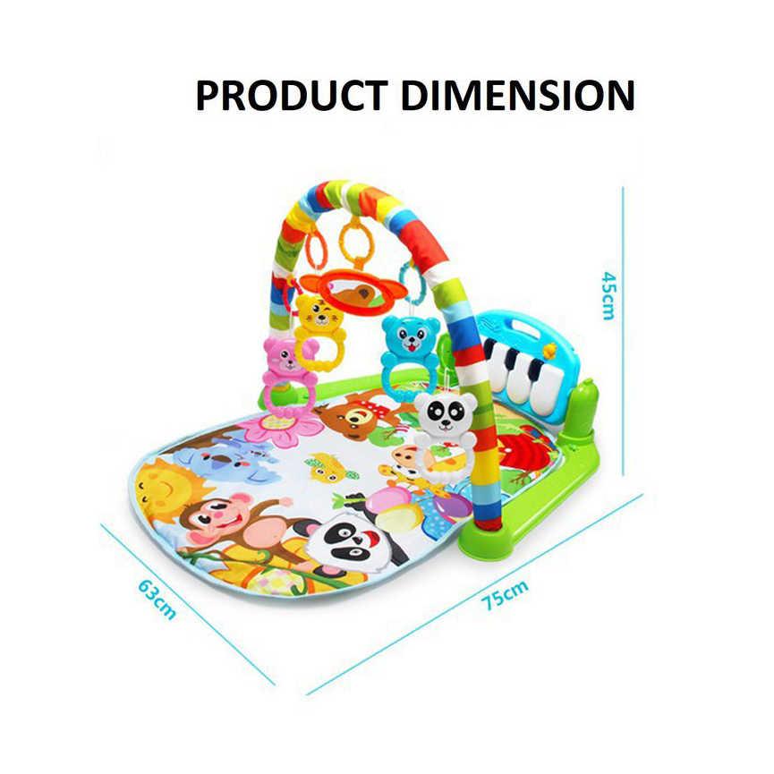 Mata do zabawy dla dzieci dla dzieci dywan dla dzieci Puzzle edukacyjne dywan z klawiatura pianina i słodkie zwierzę Playmat dziecko siłownia indeksowania aktywny mata do zabawki