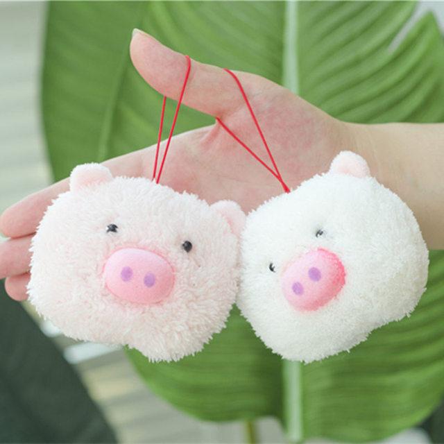 1pc 8cm Small Pendant Pig Plush Animals Stuffed Toys Plush Pig