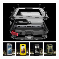 Waterproof Phone Case For Samsung S4 S5 S6 S7edge S9 S8 Shockproof Heavy Duty Powerful Aluminum Gorilla Glass Metal Cover