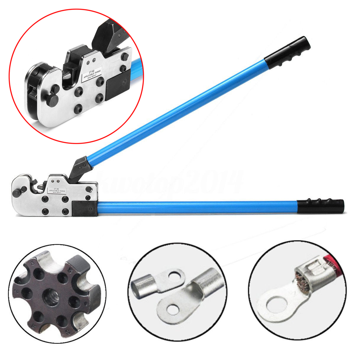DWZ Adjustable 8-95mm Wire Terminal Crimper Tool Cable Lug Crimping Plier AWG 8-3/0 цена