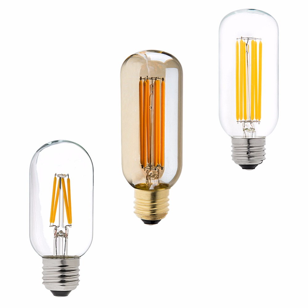 4w 6w edison led filament bulb t45 tubular lamp 110v 220v e26 e27 base super warm white 2200k. Black Bedroom Furniture Sets. Home Design Ideas