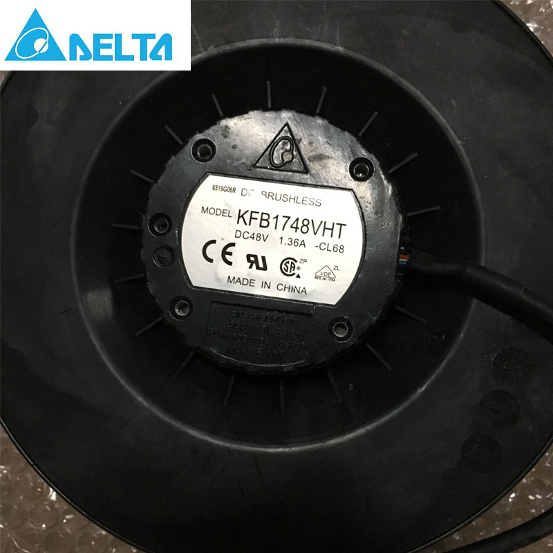 Original Delta KFB1748VHT 175x69mm 48V 1.36A 3600RPM 374.67CFM 70DBA inverter industrial centrifugal blower cooling fan original delta ffb0648she 6038 6cm 48v 0 24 dual ball bearing cooling fan