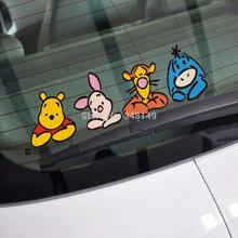 Aliauto забавная Автомобильная наклейка с Винни для Tesla Chevrolet Cruze Vw Polo Golf Skoda hyundai Kia Lada Volvo V40 для Opel honda