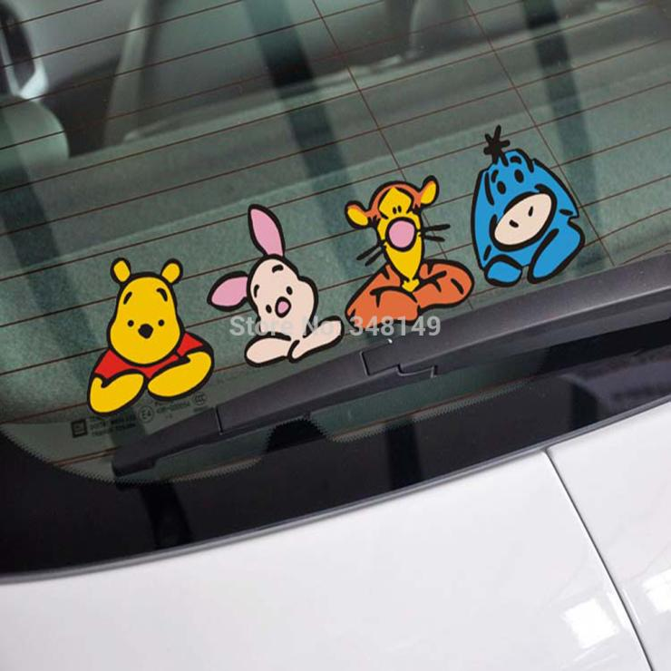 Aliauto Funny Car Sticker Bear Family Decal For Tesla Chevrolet Cruze Vw Polo Golf Skoda Hyundai Kia Lada <font><b>Volvo</b></font> <font><b>V40</b></font> Opel Honda image