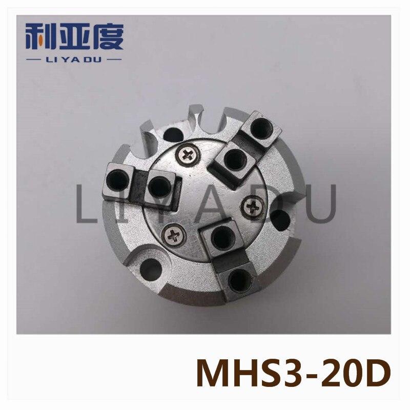 SMC tipi MHS3-20D silindir hava tutucu 3-parmak tipi MHS serisiSMC tipi MHS3-20D silindir hava tutucu 3-parmak tipi MHS serisi