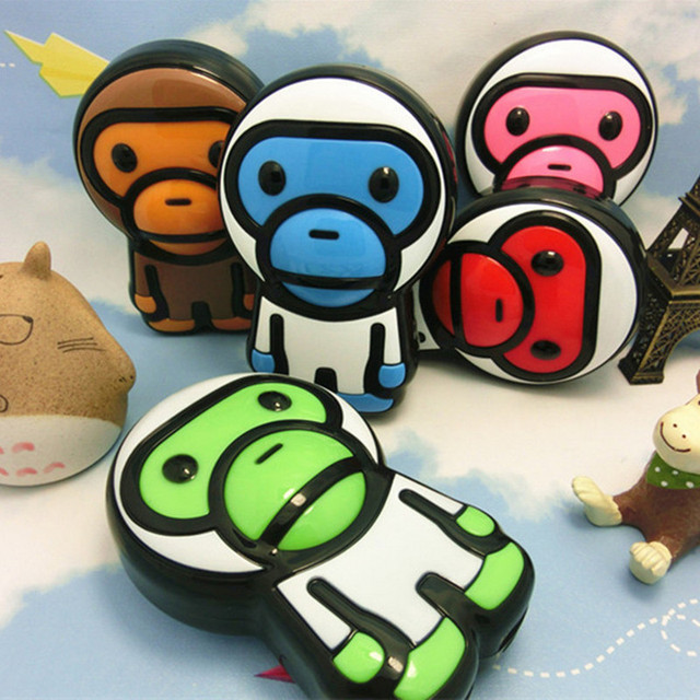 New Monkey Cartoon Baby Milo 20000mAh Power Bank External Battery Pack USB For Universal iPhone Samsung Smartphone Tablet Hot