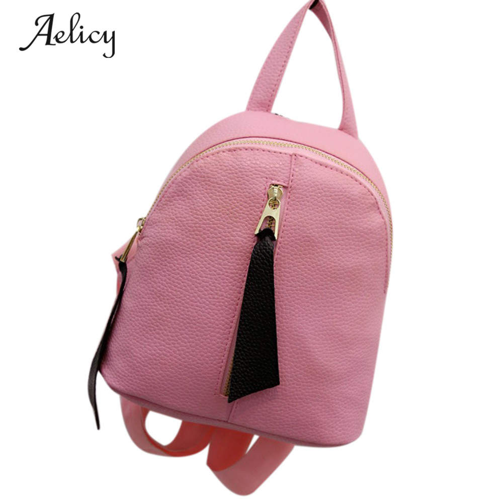 Aelicy New Female Bag Quality PU Leather Women Backpack College Wind Travel Backpacks Print Bag School Rucksack mochila