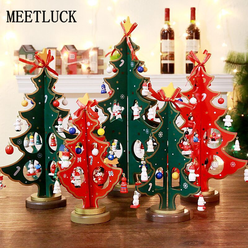 aliexpresscom buy nordic decoration home christmas tree decorations double decker wooden window tabletop crafts ornaments christmas supplies 1 pcs from - Nordic Christmas Tree Decorations