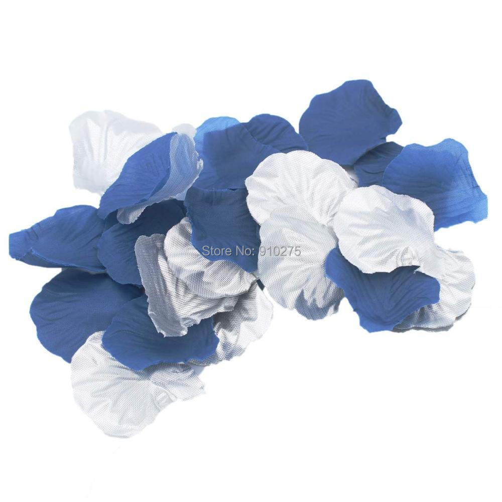 Aliexpress buy 10 pack navy blue silver artificial rose flower aliexpress buy 10 pack navy blue silver artificial rose flower petals wedding table confetti scatters bridal shower party flower girl toss dec from izmirmasajfo