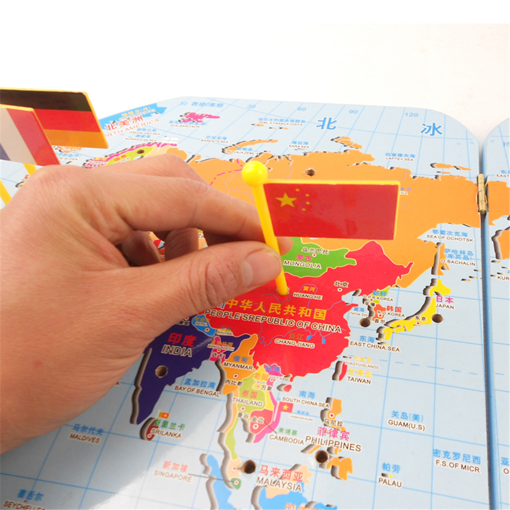 3d wooden world map toy national national flag stereo toys 3d wooden world map toy national national flag stereo toys educational early learning puzzle jigsaw for kids children in map from office school supplies gumiabroncs Images