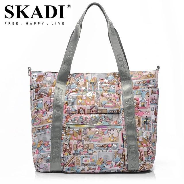 04ed5119c300 SKADI Cartoon High Capacity Mermaid Women s Handbags Casual Fashion Tote  Flower Women Shoulder Bags Ladies Shopping