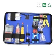 Сети Комбинации кабель Провода тестер обжима Cutter Удар Подпушка Инструменты комплект RJ11 RJ45 компьютерной сети инструмент Ремкомплект cat5e Modu