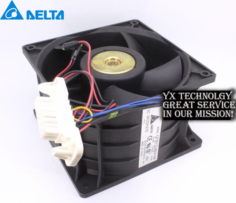Delta original  120*120*76MM  GFB1248VHW DC48V 0.93A 12CM Server fan wit led light original delta afc1212de 12038 12cm 120mm dc 12v 1 6a pwm ball fan thermostat inverter server cooling fan
