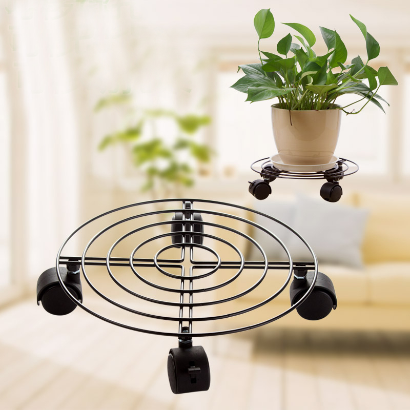 Plant Pot Stand Outdoor Part - 17: Aliexpress.com : Buy Metal Plant Flower Pot Stand Trolley Caddy On Wheels  Indoor Outdoor Home Garden Tools From Reliable Plant Caddy Suppliers On  TOPSUN ...