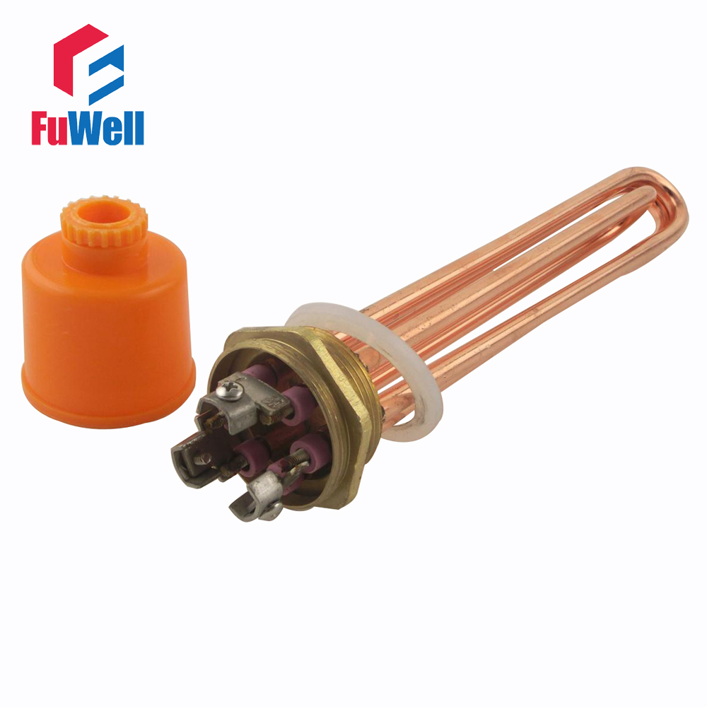 ФОТО Red Copper 380V 12KW Heating Element U Shaped DN40 Electric Tube Heater for Water Tank