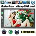 7 polegada 2 Din tela de toque Bluetooth USB/TF/FM DVR/Entrada Aux Rádio Do Carro Jogador MP5 Câmera Traseira de áudio/entrada DVR funciton