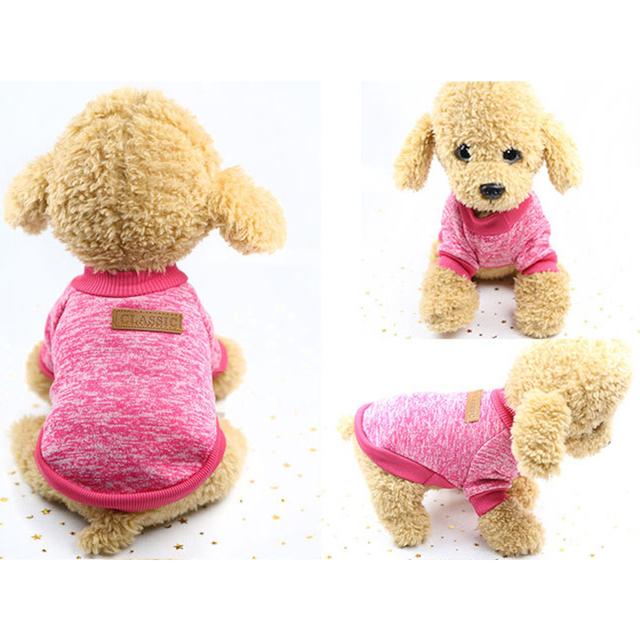 Soft winter warm dog sweater