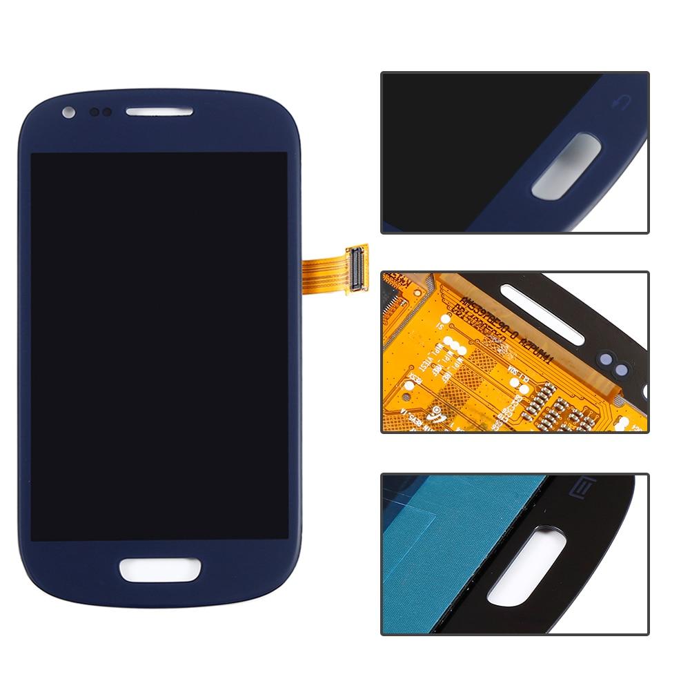 imágenes para AAA + LCD Para Samsung Galaxy S3 Mini i8190 LCD de Pantalla de Cristal Del Panel + Touch Pantalla Digitalizador Asamblea, azul, Envío libre