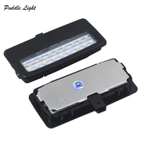 led white car 2X 18smd black LED vanity mirror lamp For BMW F10 F11 F07 F01 F02 F03 Led reading lights bulbs Car-styling auto parts White (5)