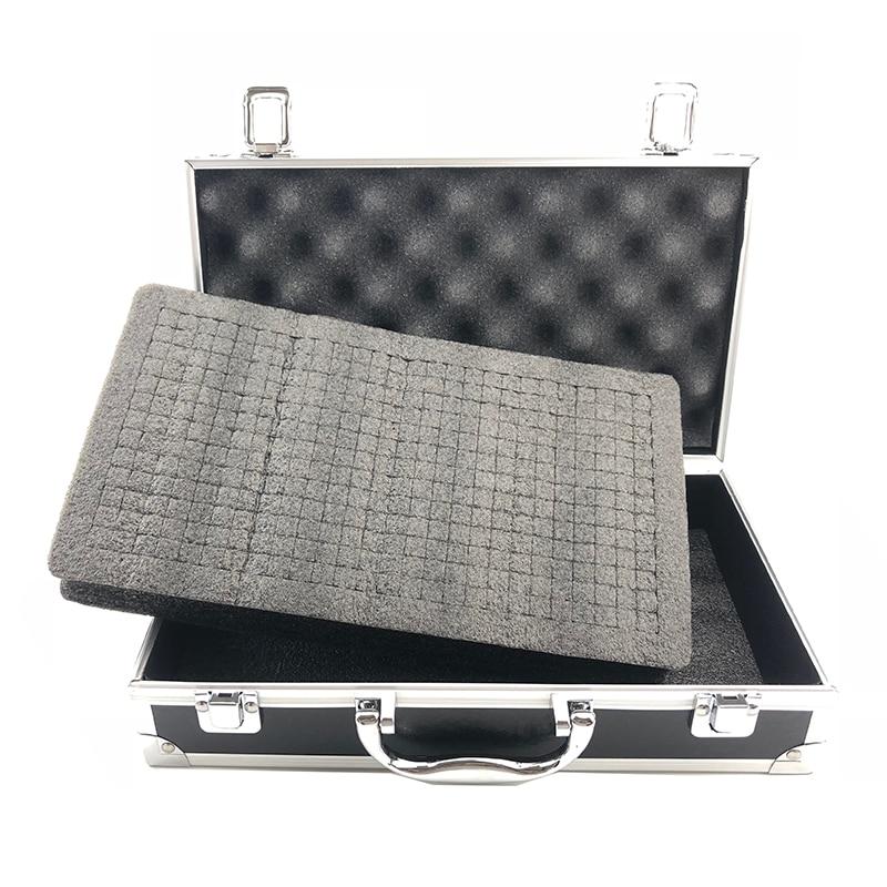 Aluminum Tool Box Portable Instrument Box Storage Case Suitcase Travel Luggage Organizer Case Tools With Lining 300*170*80mm