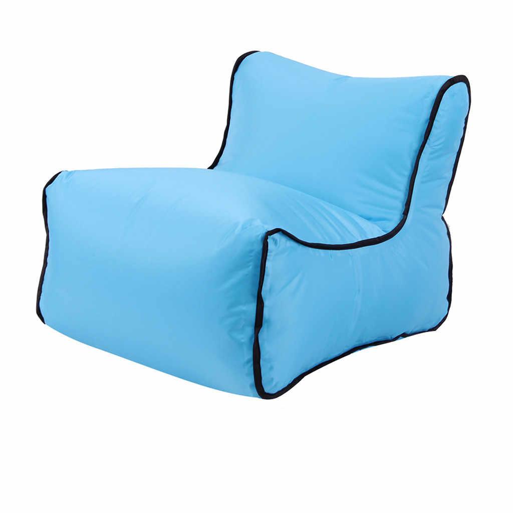 2019 conveniente cor sólida preto cinza Sacos de Cadeira Espreguiçadeira Sofá Preguiçoso Sofá de Ar Inflável para Festa Ao Ar Livre de Acampamento de Viagem