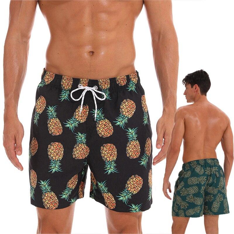 2019 Mens Swim Shorts New Quick Dry Summer Mens Board Shorts Surf Swimwear Beach Short for Men Athletic Running Gym Shorts