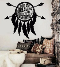 Art  Wall Sticker Ethnic Decoration Vinyl Dreamcatcher Poster Modern Fashion Ornament Mural LY177