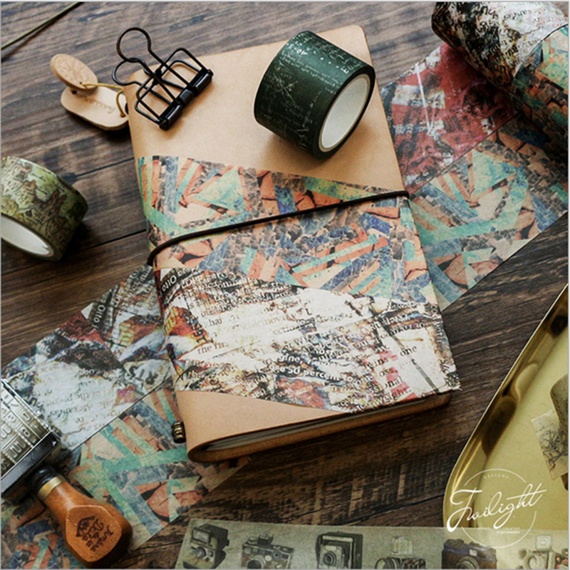1X Retro Decoration Series Tape Washi Tape Sticker Scrapbooking Planner Masking Tapes Office Adhesive Kawaii DIY Stationery Tape