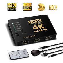 NewBEP Лучшая цена HDMI коммутатор 5 вход 1 выход 3d 5 порт 4 к HDMI коммутатор селектор разветвитель с концентратором ИК пульт дистанционного управления для HDTV DVD