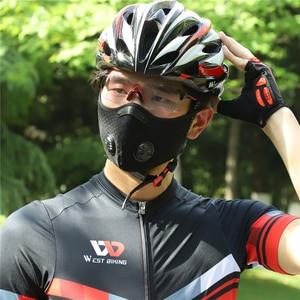 Image 2 - West Fietsen Fietsen Gezichtsmasker Sport Training Masker PM2.5 Anti Vervuiling Running Masker Activated Carbon Filter Wasbare Masker