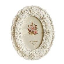 EU Retro Style Home Living Room Wedding Photo Frames White Stereo Handmade Pastoral White Photo Frame W $