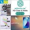 Nillkin mate film protector de pantalla transparente para samsung galaxy a5 2017 a520f a3 a7 a720f transparente antideslumbrante delantero trasero
