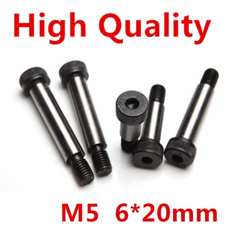 10 Pieces M5 Threaded 6 x 20mm 12.9 Grade Alloy Steel Hexagon Socket Head Shoulder Screw Bolt