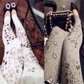 2016 de moda de lujo crystal rhinestone joya legging