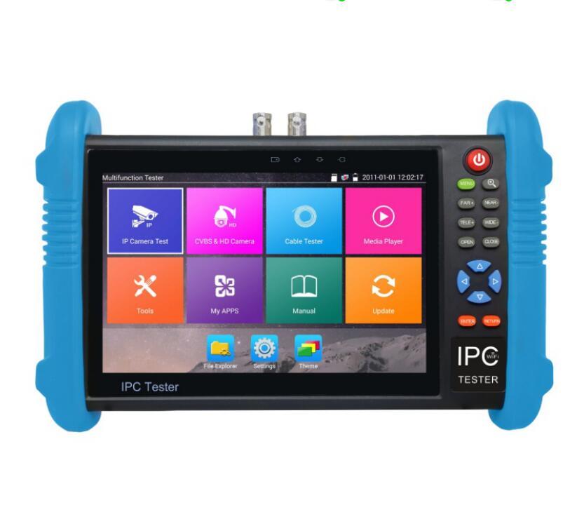 bilder für Neue 7 zoll fünf in einem h.265 4 karat ip hd cctv tester monitor Analog AHD TVI3.0 CVI Kamera Tester 1080 P 4MP 5MP ONVIF WIFI POE 12 V