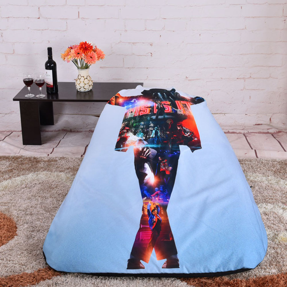 LEVMOON Beanbag Sofa Chair Michael Jackson Seat Zac Comfort Bean Bag Bed  Cover Without Filler Cotton Indoor Beanbag Lounge Chair In Living Room Sofas  From ...