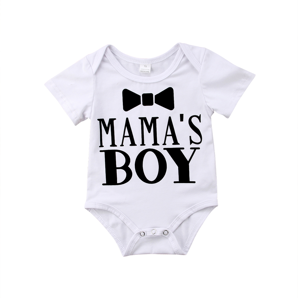 Newborn Toddler Baby Boy Clothes   Romper   Letter Print Gentleman Top Jumpsuit Outfits