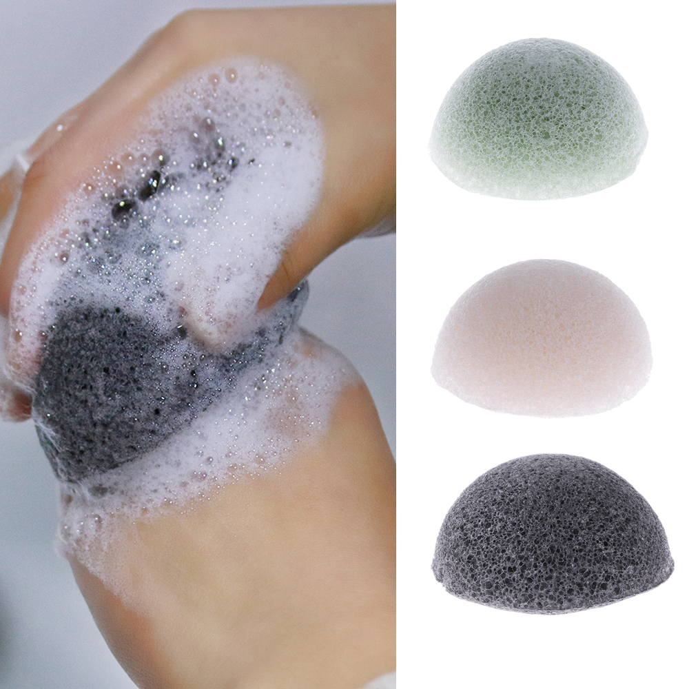 3 Colors Hot Selling Women Ladies Natural Konjac Konnyaku Facial Puff Face Wash Cleansing Sponge  Soft  Makeup Beauty Tools
