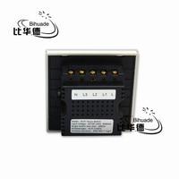 Smart Home Touch Switch Livolo White Crystal Glass Panel AC110 250V LED Indicator UK 3 Gang