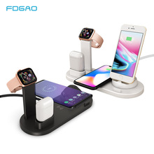 FDGAO 3 in 1 Charging Dock Station Stand For Airpods Apple Watch  10W Fast Qi Wireless Charger For iPhone X XS MAX XR 8 7 6 Plus fdgao 3 in 1 charging dock station stand for airpods apple watch 10w fast qi wireless charger for iphone x xs max xr 8 7 6 plus